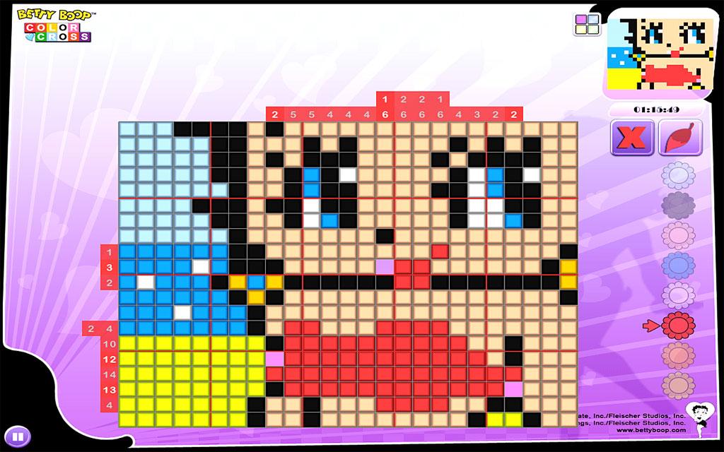 Betty Boop Color Cross